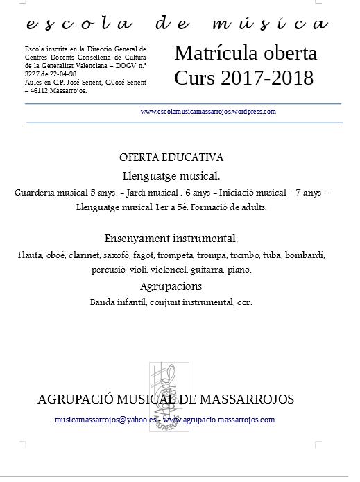 ESCOLA DE MUSICA - MATRICULA